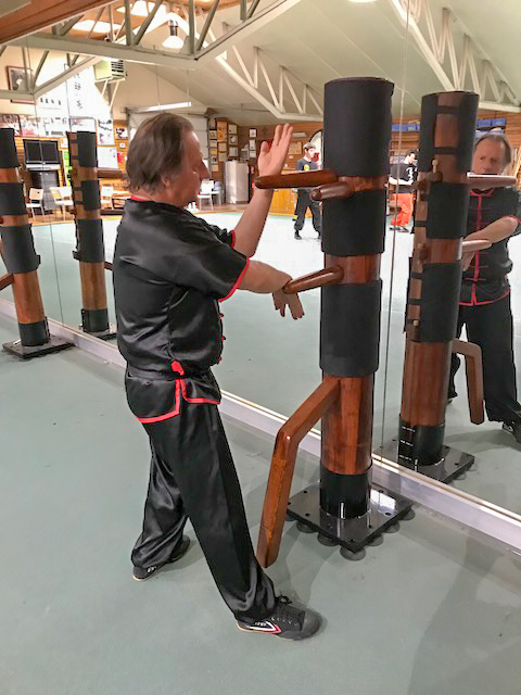 GM Walter Toch training 5 Palms of Wing Chun in his Academy.