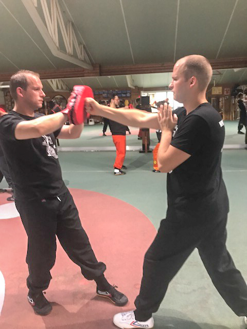 Lesson Wing Chun by GM Walter Toch in his academy