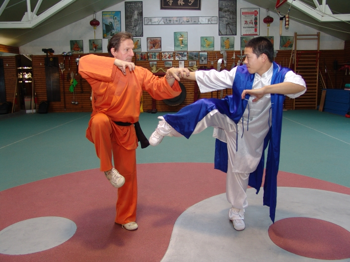 GM Walter Toch with shaolin mank Shi Heng Jin in private in his Academy.