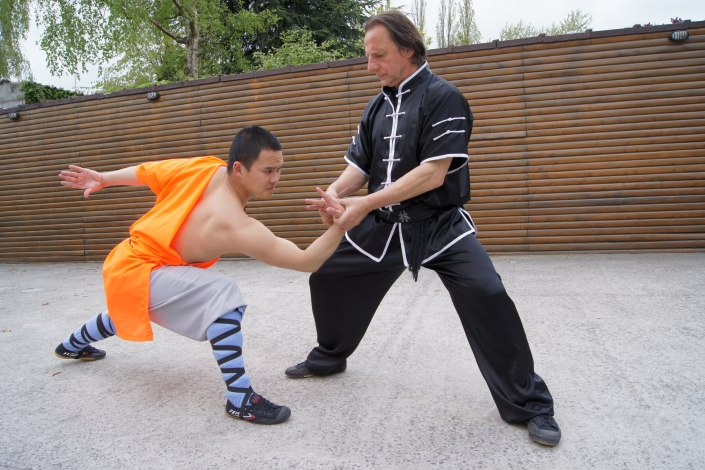 GM Walter Toch with Chin Na on Shi Heng Jin in his Academy.