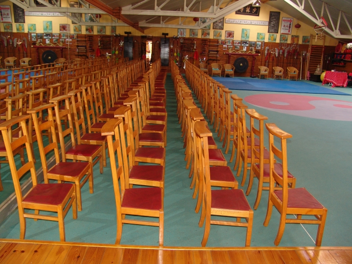 Traditionele plaats voor wedstrijden , demo , examens , workshops enz .. .